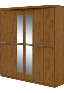 Guarda-Roupa Qualitá Com Espelho - 6 Portas - Rovere Soft