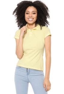 Camisa Polo Malwee Lisa Amarela