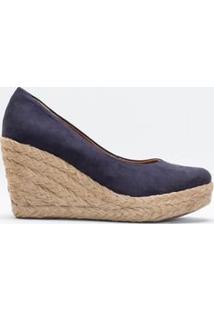Sapato Feminino Anabela Satinato