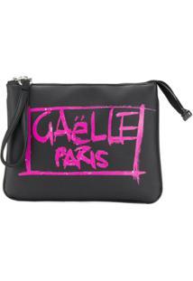 Gaelle Paris Kids Clutch Com Estampa Grafitti - Preto