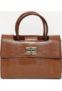 e1ae78257 ... Bolsa Com Recorte Vazado & Tag- Marrom & Dourada- 25Santa Lolla