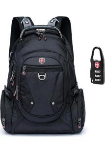 Mochila Swissport Notebook Audipocket 28L - Unissex-Preto