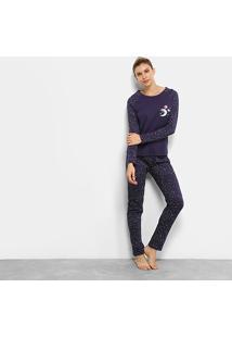 Pijama Longo Censato Galáxia Feminino - Feminino