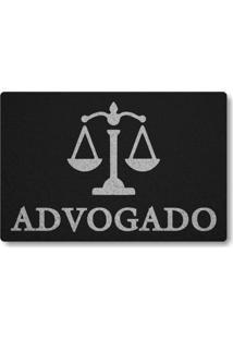 Tapete Capacho Advogado - Preto