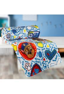 Manta Infantil Patrulha Canina (125X150) Poliéster Azul