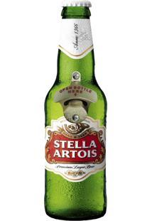 Abridor De Garrafa De Parede Stella Artois - Multicolorido - Dafiti