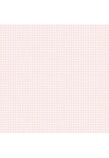Papel De Parede Lymdecor Coleção Infantário Quadriculado 1745 Bobinex Rosa