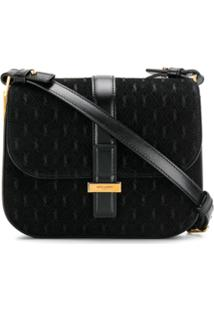 Saint Laurent All-Over Monogram Handbag - Preto
