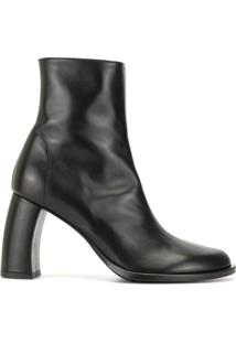 Ann Demeulemeester Ankle Boot Com Solado Chunky - Preto