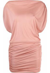 Missoni Vestido Design Drapeado - Rosa