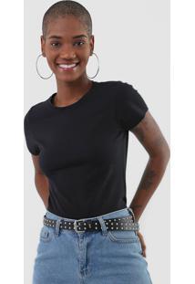 Camiseta Rovitex Lisa Preta
