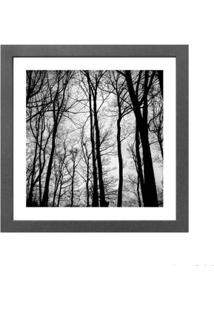 Quadro Decorativo Trees Black 33X33Cm Cinza Infinity