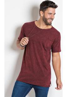 Camiseta Vermelha Com Efeito Marmorizado