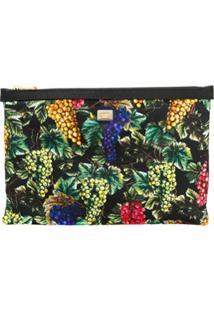 Dolce & Gabbana Clutch Com Estampa De Uva - Preto