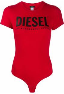 Diesel Body Com Estampa De Logo - Vermelho