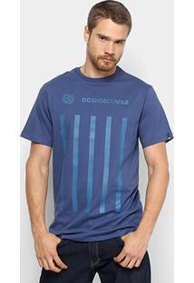 Camiseta Dc Shoes Bas Guvnor Masculina - Masculino-Azul Escuro