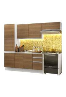 Cozinha Compacta Madesa 100% Mdf Acordes Glamy Com Armário E Balcão Branco/Rustic