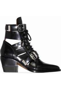 Chloé Ankle Boot Rylee - Preto