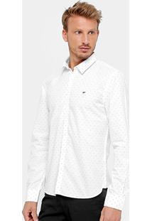 Camisa Ellus Slim Fit Maquinetado Two Tonnes Masculina - Masculino