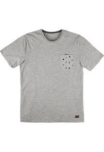 Camiseta Masculina Hering Slim Com Bolso
