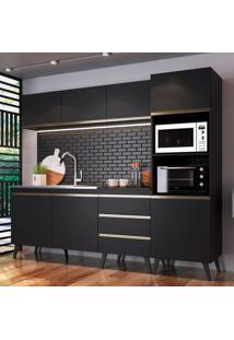Cozinha Compacta Corona 7 Pt 3 Gv Preta