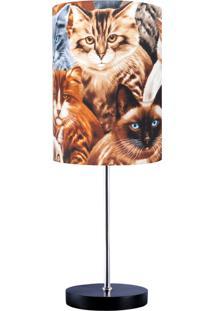 Abajur Carambola Cats Marrom - Marrom - Dafiti