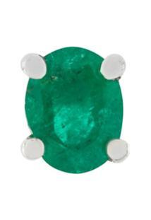 Wouters & Hendrix Gold Brinco Único De Ouro Branco 18K Com Esmeralda - Verde