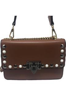 Bolsa Casual Transversal Alça Corrente Sys Fashion 8305 Marrom
