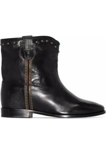 Isabel Marant Ankle Boot Cluster De Couro - Preto