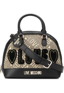 Love Moschino Bolsa Tote Com Alça De Mão E Logo - Preto