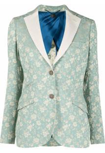 Maurizio Miri Blazer Com Estampa Floral - Azul