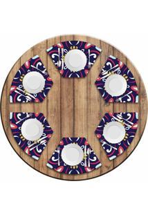Jogo Americano Love Decor Para Mesa Redonda Wevans Mandala Roxa Kit Com 6 Pçs