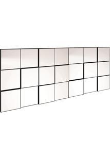 Painel Decorativo- Espelhado & Preto- 75X175X5Cmdalla Costa