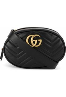 Gucci Pochete 'Gg Marmont' Matelassê - Preto