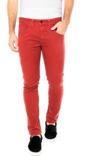 Calça Jeans Rip Curl Straight Color Vermelha