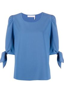 See By Chloé Tied Cuffs Blouse - Azul