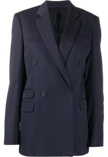 Stella Mccartney Double-Breasted Blazer Jacket - Azul