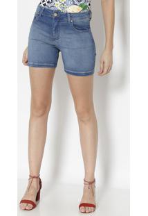 Bermuda Jeans Com Bolsos - Azulmiss Bella