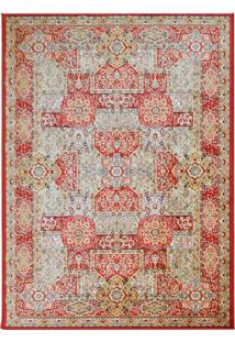 Tapete Isfahan Retangular Veludo 48X90 Cm Vermelho