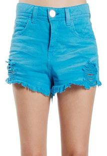 Shorts Colcci - Feminino-Azul