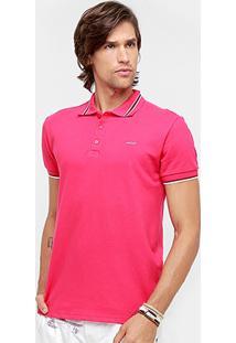 Camisa Polo Colcci Piquet Friso Grosso Bicolor Masculina - Masculino