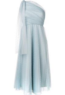 Redvalentino Vestido Com Tule - Azul