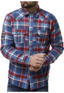 Camisa Flanela Forrada Manga Longa Masculina Gangster - Masculino