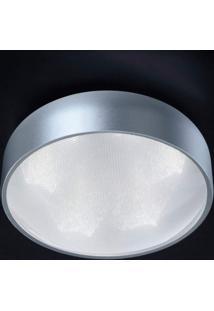 Plafon Led Sobrepor De Alumínio 11,5Cmx25Cmbella Iluminação 6X3W Prata