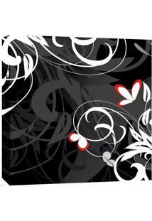 Quadro Impressão Digital Arabescos Preto E Branco 30X30Cm Uniart
