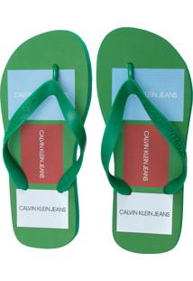 Chinelo Masculino Ckj Patchs - Verde