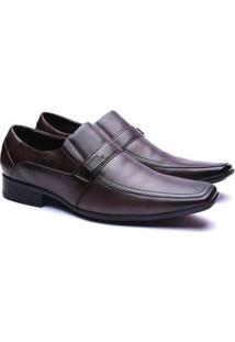 Sapato Social Couro Manutt 4040 Masculino - Masculino-Marrom