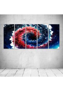 Quadro Decorativo - Deep Rich Colors Abstract - Composto De 5 Quadros