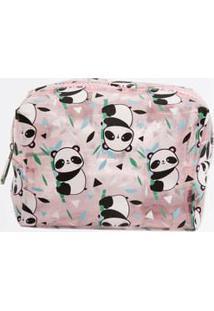 Necessaire Feminina Estampa Pandas Marisa