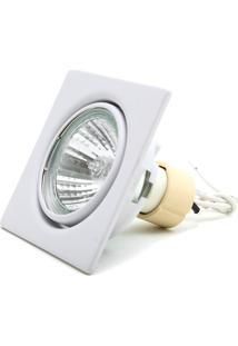 Spot De Embutir Para 1 Lâmpada 50W 110V 6500K Luz Branca